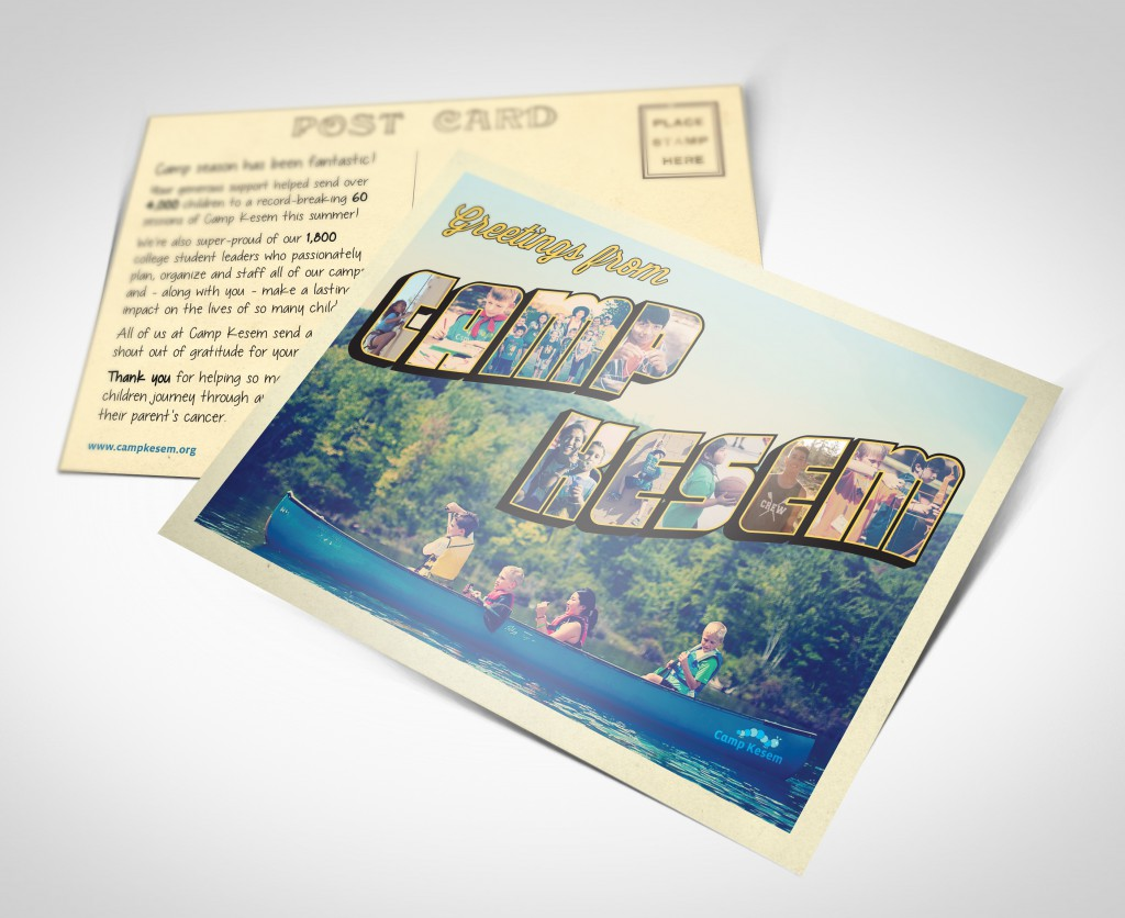 Postcard front and mailing back